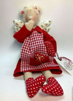 Christmas Sewing, Handmade Christmas, Christmas Crafts, Felt Angel, Creative Box, Angel Crafts, Sock Animals, Sewing Dolls, Waldorf Dolls
