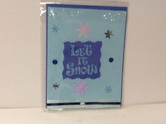 Let it snow Let it snow on Etsy, $2.50