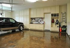Fall's crisp temperatures are the ideal conditions for a project like painting the garage floor. Consider doing so with epoxy paint, as it protects floors from common spills and stains.