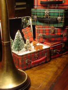 Christmas vignette in any small case...