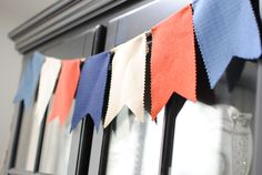 French theme party pennant