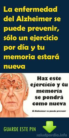 La enfermedad del Alzheimer se puede prevenir, sólo un ejercicio por día y tu memoria estará nueva - Salud por Día