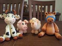 farm animals (cold porcelain)