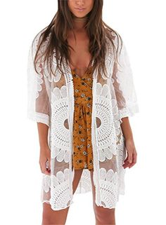 562e0dd09a Avidqueen Women s Sexy Lace Crochet Swimsuit Bikini Cover Up Beach Dress