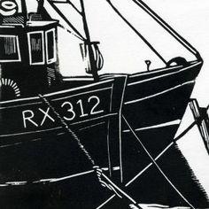Fish Market Rye   Linocut   Lino Print