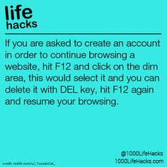 1000 life hacks is here to help you with the simple problems in life. Posting Life hacks daily to help you get through life slightly easier than the rest! Hacking Websites, Life Hacks Websites, 1000 Life Hacks, Life Hacks For School, Life Hacks Computer, Computer Basics, Computer Help, Computer Tips, Technology Hacks