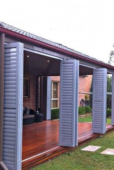 ALUMINIUM SHUTTERS/ LOUVRES FIXED, BI FOLD, SLIDING FOR YOUR ALFRESCO OR OUTDOOR AREA « Bella Shutters and Blinds