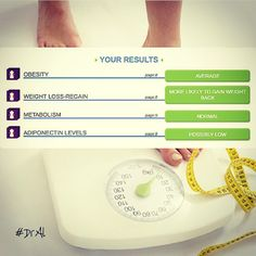 YOUR WEIGHT CAN BE INFLUENCED BY MANY GENES  Your report includes how your genes may relate to your metabolism, if you are likely to maintain weight loss, as well as your predisposition for obesity. A summary of your results is provided below.  For more information about our DNA Test for Metabolic Health or to make an appointment contact us at 305-608-4922.  #DrAl #relaxspa #relaxmedspa #wellness #dnatest #miamiacupuncture #integrative #medicine #weightloss #nutrition #eatclean