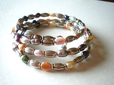 PearlTastic Coil Bracelet Multi Strand Multi by McHughCreations, $20.00