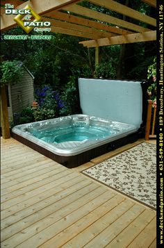 deck/hot tub. With a hot spring spa!
