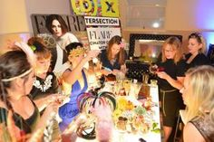 @Mary Blake you'll love this, Flare sponsored a fascinator station, where guests made their own headpieces. Design Exchange Revamps Gala With Underground Dinner Party, Balloon-Popping...