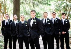 Jolie Connor Photography - Photography - Charleston, SC - WeddingWire - Formal groomsmen outfit idea – black suits with black neckties {Jolie Connor Photography} - Groomsmen Attire Black, Groomsmen Outfits, Groom Outfit, Bridesmaids And Groomsmen, Groomsman Attire, Groom And Groomsmen Tuxedos, Charleston Sc, Mariage Formel, Black Tuxedo Wedding