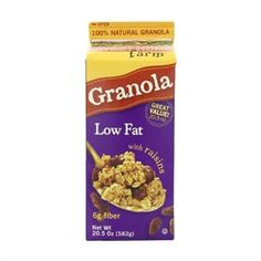 Granola Low Fat With Rasins
