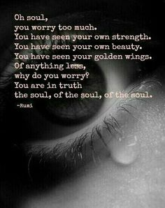 Oh soul - Rumi quote Great Quotes, Quotes To Live By, Love Quotes, Amazing Quotes, Sad Quotes, Kahlil Gibran, Rumi Quotes, Inspirational Quotes, Motivational