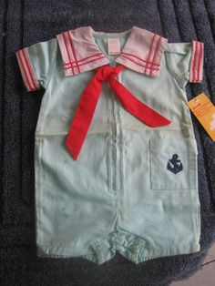 Baby outfit Sailor suit Midi by cheshirecatinc on Etsy, $9.99