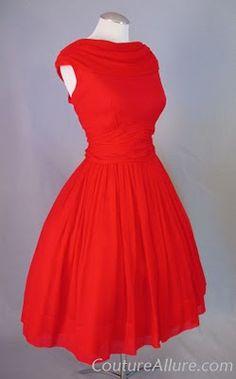 Beautiful coral retro dress