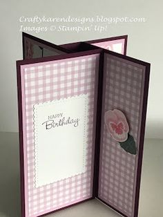 Card Making Tutorials, Card Making Techniques, Making Ideas, Making Cards, Fancy Fold Cards, Folded Cards, Christmas Poems, Ink Stamps, Birthday Cards
