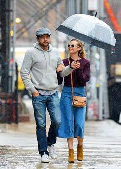 Diane Kruger's best rainy day accessory? Joshua Jackson.