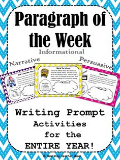 "One Stop Teacher Shop: How ""Paragraph of the Week"" Homework Improved My Students' Writing!"