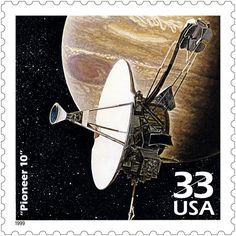 Launched March 1972, Pioneer 10 was the first spacecraft to travel to Jupiter and send back data and images. Eleven years later, it became the first man-made object to leave the solar system.