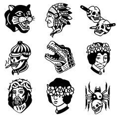 Black Tattoos, Body Art Tattoos, Small Tattoos, Cool Tattoos, Tattoo Sketches, Tattoo Drawings, Tatuagem Old Scholl, Desenhos Old School, Traditional Tattoo Flash