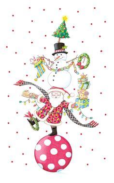 Mary Engelbreit Santa & snowman