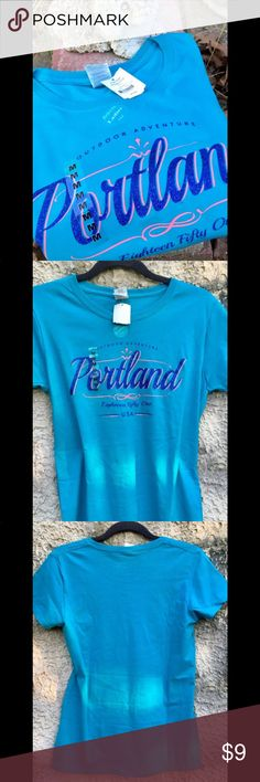 Portland Tee Shirt M New, never worn. Portland, where young people go to retire😜.   Add on to any other item for $5. Message me to create bundle. Tops Tees - Short Sleeve