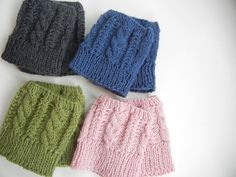 Free Boot Cuff Knit Pattern | Cabled Boot Cuff Knitting Pattern Images
