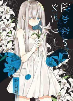 Imagen de anime and flowers