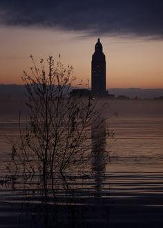 Baton Rouge Sunrise from Port Allen, by darrellrhodesmiller