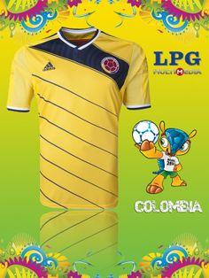 Camiseta de la selección de Colombia en el mundial #Brasil2014