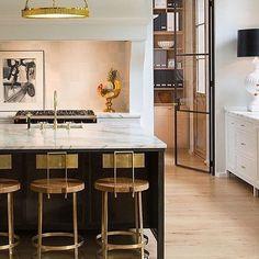 Our favorite combo: Marble, black and brass. #kitchendesign #kitchenstyle #kitchencounter #kitchendecor // : @banksdevelopment via @scoutandnimble