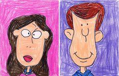 Sara's cartoon faces lr