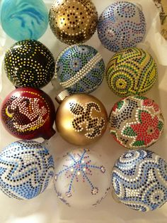 Hand painted ornaments! For sale!