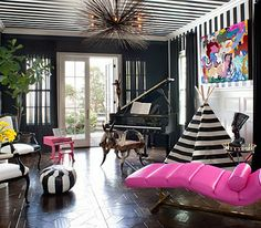 Kourtney Kardashian's amazing family room featured in Instyle  Charming in Charlotte