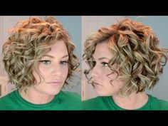 Short Curly Hair Tutorial - YouTube