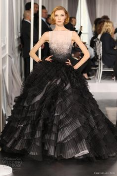 pink and black ombre gown. there is no other like Christian Dior #dress #dresses #glam