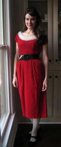 my Mrs. Claus wannabe dress