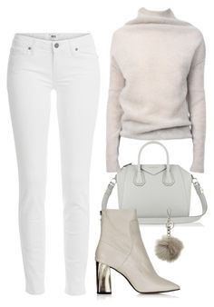 """Untitled #1470"" by susannem ❤ liked on Polyvore featuring Paige Denim, Rick Owens, Givenchy, Topshop and MICHAEL Michael Kors"