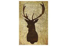 One Kings Lane - Art for the Cozy Cabin - Deer Head I
