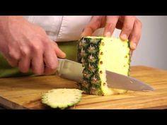 Ananas schoonmaken en snijden - Snijtechnieken | PLUS