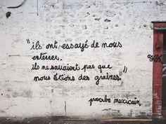 43 ideas street art inspiration words for 2019 Street Art Quotes, Graffiti Quotes, Street Art Graffiti, Attentat Paris, Street Art Photography, French Quotes, This Is Us Quotes, Street Artists, Graffiti Artists