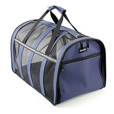 Becko Soft-sided Pet Carrier / Travel Cat Litter / Dog House with Mesh Window and Shoulder Straps for Pet up to 22 Pounds ---- Purple Blue Becko http://www.amazon.com/dp/B014LZI7MW/ref=cm_sw_r_pi_dp_jaLqwb0D8MH6R