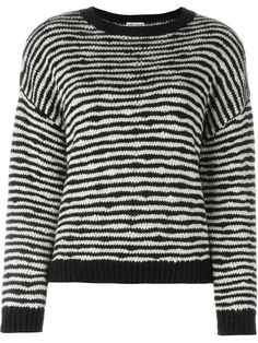 Shop Saint Laurent striped knitted sweater in Liska from the world's best independent boutiques at farfetch.com. Shop 400 boutiques at one address.