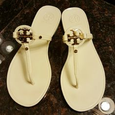 Jelly Sandals Worn a couple of times, great condition. Tory Burch Shoes Sandals