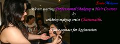Studio makeover is starting Professional #Makeup n #Hair #Courses by #celebrity makeup artist #Charumathi. Contact www.studiomakeover.in to get registration form and details.