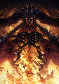 Diablo Immortal Poster HD Mobile, Smartphone and PC, Desktop, Laptop wallpaper resolutions. Monster Concept Art, Fantasy Monster, Monster Art, Dark Creatures, Mythical Creatures Art, Dark Fantasy Art, Fantasy Artwork, Fantasy Character Design, Character Art