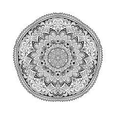 Complex Mandala for Coloring