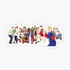 Printable Stickers, Cute Stickers, Phineas E Ferb, Glee Quotes, Glee Club, Tumblr Stickers, Jane The Virgin, Aesthetic Stickers, Laptop Stickers