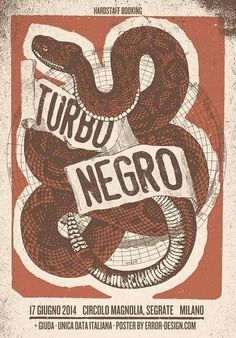 Cool Turbonegro gig-poster. Source: Turbonegro's Facebook-page.